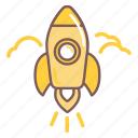 rocket, space, spaceship, start, up icon