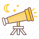 look, perspective, sky, star, telescope icon
