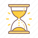 clock, deadline, glass, hourglass, management, time, timer icon