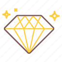diamond, gem, luxury, stone, value icon