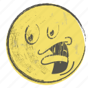 smiley, yellow, face, paper, cartoon, emoji