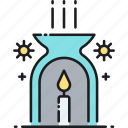 aroma, aromatherapy, candle, flame, fragrance, heat icon