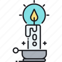 candle, flame, heat, light icon