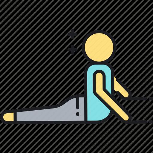 cobra, cobra pose, stretch, stretching, yoga, yoga pose icon