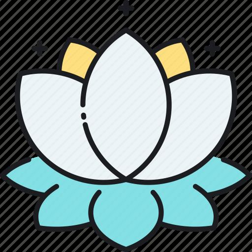 floral, flower, lotus icon