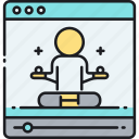 online, online yoga, tutorial, video, yoga, yoga tutorial, yoga video icon