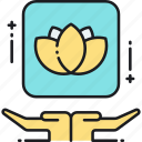 lotus, meditate, meditation, mindfulness, yoga icon