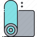 mat, yoga, yoga mat icon
