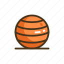 balance, balance ball, ball, exercise ball icon
