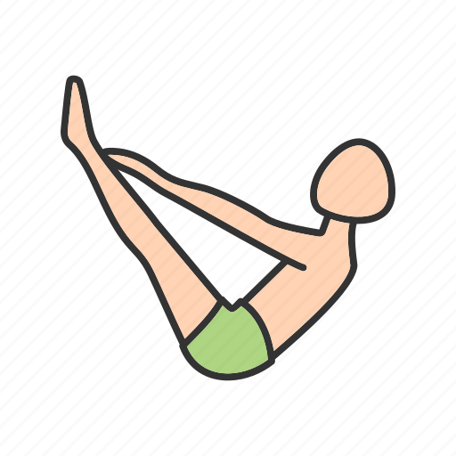 exercise, fitness, healthy, pose, toes, training, yoga icon