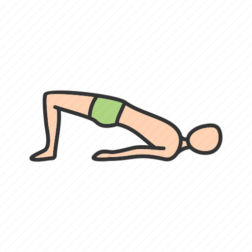 bridge, exercise, fitness, pose, workout, yoga, young icon
