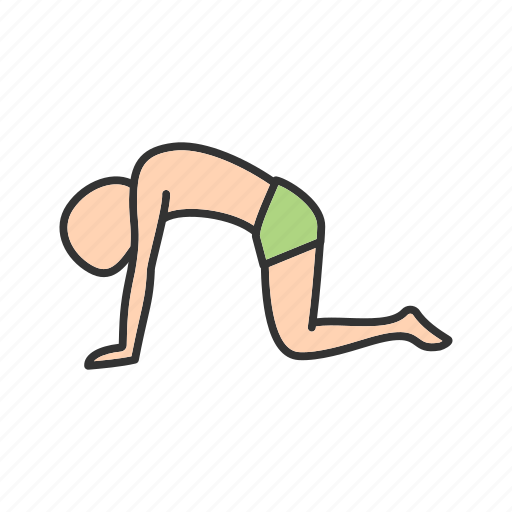 back, body, cat, fitness, healthy, pose, yoga icon