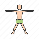 exercise, extended, fit, pose, relaxation, strength, yoga icon