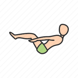boat, exercise, fitness, half, pose, training, yoga icon