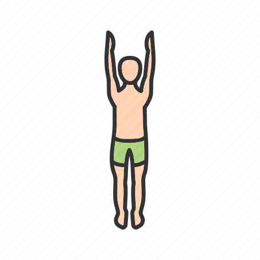 facing, fitness, mountain, pose, training, upward, yoga icon