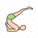 activity, exercise, pose, professional, shoulderstand, supported, yoga icon