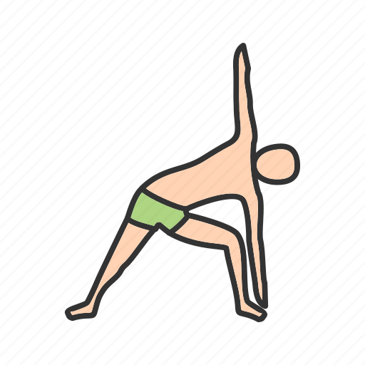 exercise, pose, power, practice, practicing, triangle, yoga icon