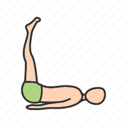 aerobic, exercise, extended, feet, pose, stretch, yoga icon