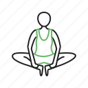 activity, angle, bound, exercise, pose, side, yoga icon