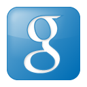 blue, box, google, social icon