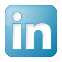 blue, box, linkedin, social