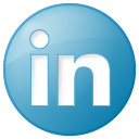 blue, button, linkedin, social icon