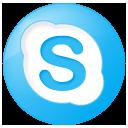 blue, button, round, skype, social icon