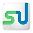box, social, stumbleupon, white icon
