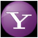 button, lilac, social, yahoo icon