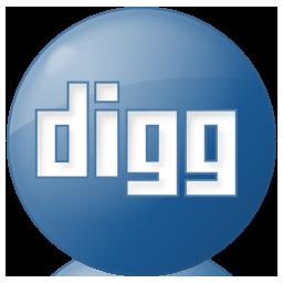 blue, button, digg, social icon