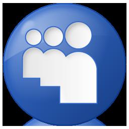 blue, button, myspace, social icon