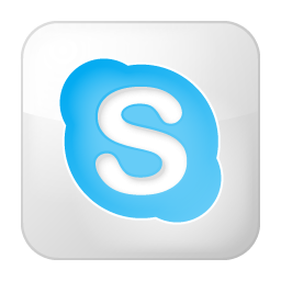 box, skype, social, white icon