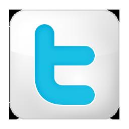 twitter, white icon