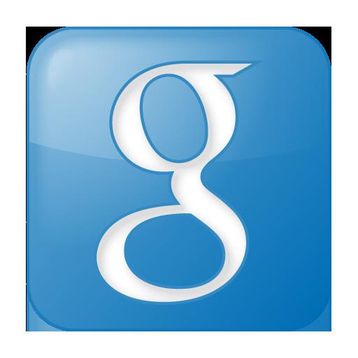 Blue Box Google Social Icon