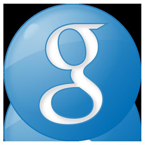blue, button, google, social icon