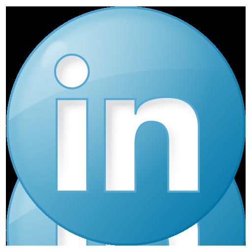 blue, button, linkedin, social icon