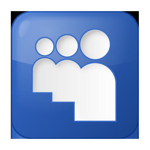 blue, myspace, social icon