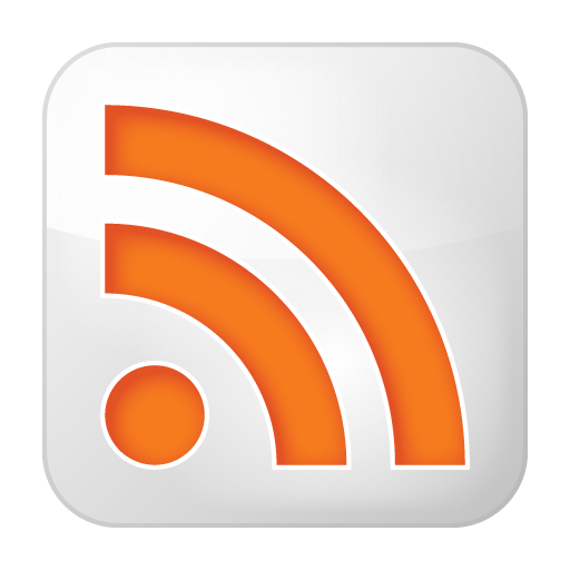 rss, social, white icon