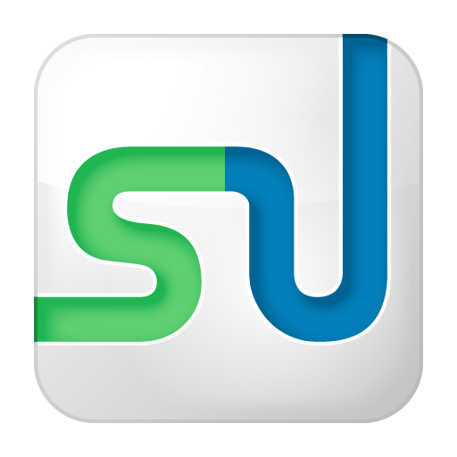box, social, stumbleupon, white icon