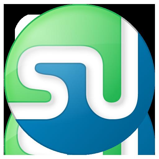 button, color, social, stumbleupon icon