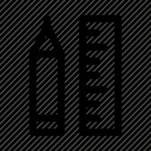 create, design, graphics, making, pencil, scale icon