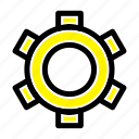 basic, gear, setting, ui icon