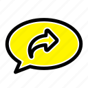 arrow, basic, chat, right icon
