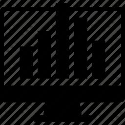 bars, computer, data, graph, report icon