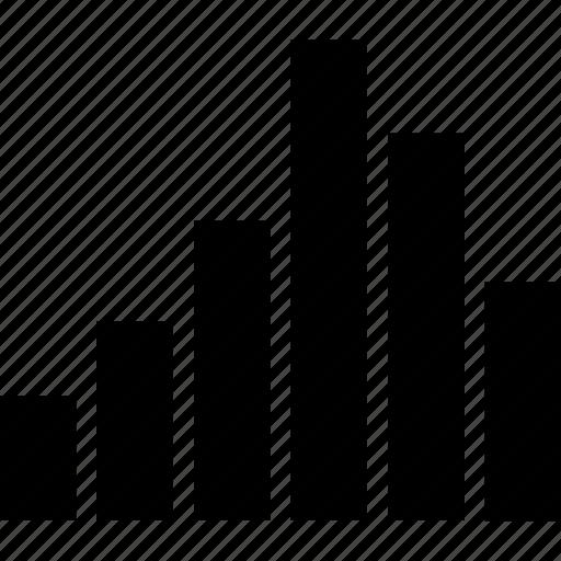 bars, data, good, graph, up icon