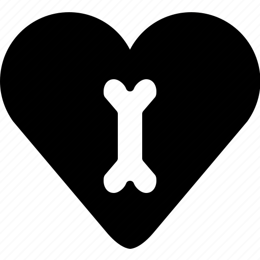 bone, healthcare, heart, like, love, medical, yumminky icon