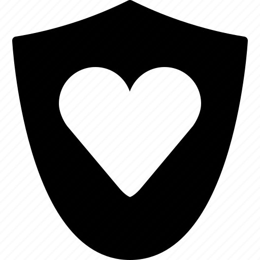 healthcare, heart, love, medical, protection, shield, yumminky icon