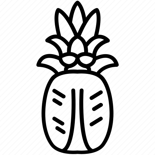 food, fruit, health, pineapple, tropical, vitamins, yumminky icon
