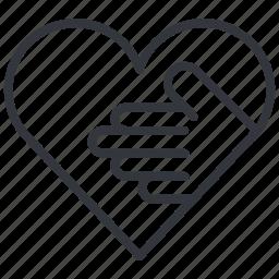 aquarium, friend, hand, heart, help, love, yummy icon