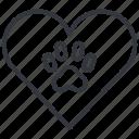 animal, cats, heart, love, paw, pet, yummy
